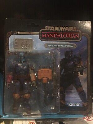 "Star Wars Vintage Black Series Credit Collection 6"" Heavy Infantry Mandalorian"