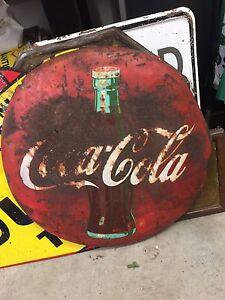 """24"""" Coca Cola button 306-717-9678"""