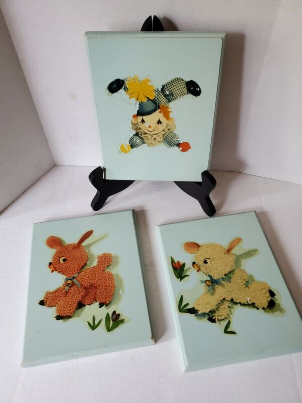 Vintage Baby Childrens Whimsical Nursery Wall Plaques Decorations