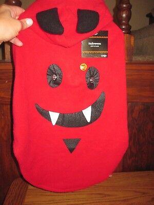 Dog Dracula Costume (NEW DEVIL DOG DRACULA LED Hooded Fleece Jacket DOG Costume SIZE)