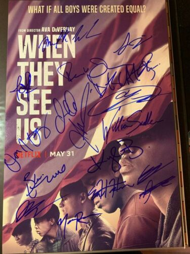 WHEN THEY SEE US CAST SIGNED PHOTO 12X18 FAMKE JANSSEN JOSHUA JACKSON AUTOGRAPH