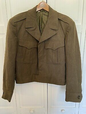 Original Vintage WW2 US Army Uniform Ike Jacket Size 38S Named Identified ID'D