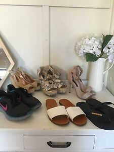 6 pairs of women's shoes - NIKE, Forever New & Havaianas Newcastle Newcastle Area Preview