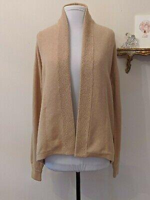 Vintage Ballantyne of Scotland Women's Cashmere Open Front Cardigan Sweater M