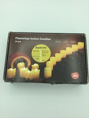 Flameless Votives Bulk (Flameless Votive Candles With Remote Control and Timer Bulk Set of 24)