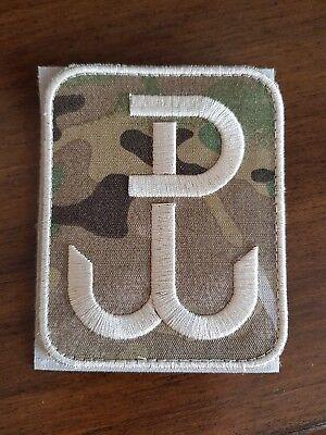 Polish ARMY FLAG POLAND patch camo 50x30 Warsaw fighting polska walcząca