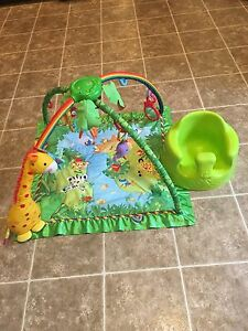 Bumbo chair and activity gym