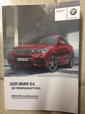 BMW X 4 F 26  2016  Betriebsanleitung 2016 Bedienungsanleitung Handbuch Bordbuch