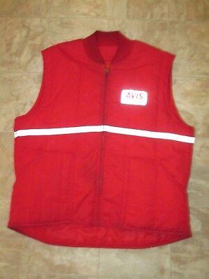 Vintage Avis Rental Car Service Uniform Vest Red Size Xl R