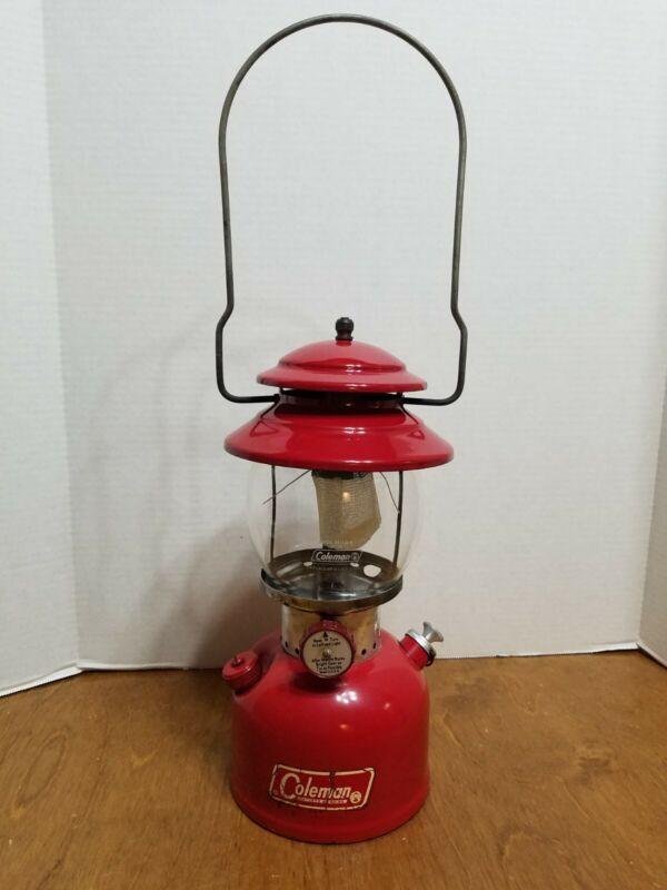Vintage Original 1966 COLEMAN 200A Sunshine of the Night Lantern  RED Nov. 1966