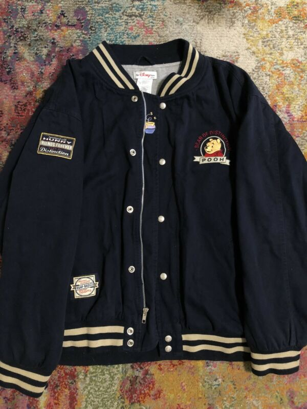 Vintage Disney Winnie The Pooh Varsity Jacket Size Large