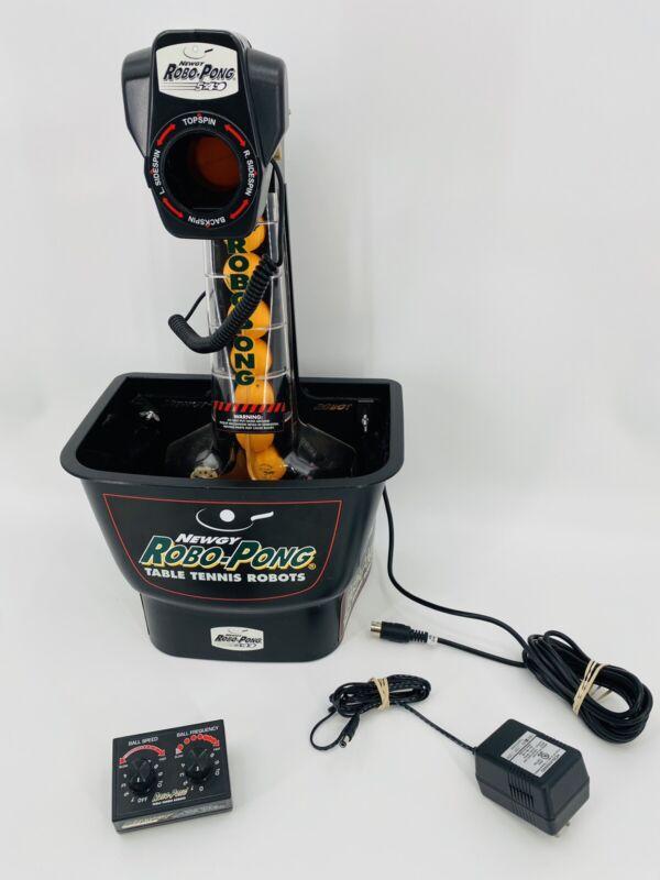 Newgy Robo Pong 540 Table Tennis Robot W/ 32 Balls Tested & Working