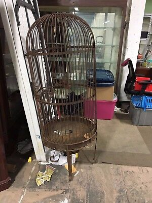 Antique Wrought Iron BIrd Cage Parrot McCaw Large Cage