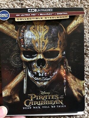 Pirates Of The Caribbean  Dead Men Tell No Tales  4K Ultra Hd Blu Ray Steelbook