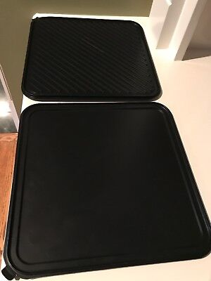 2 Chef's Design (?)Single Burner Reversible Grill/Griddle With Non-Stick Chefs Non Stick Griddle