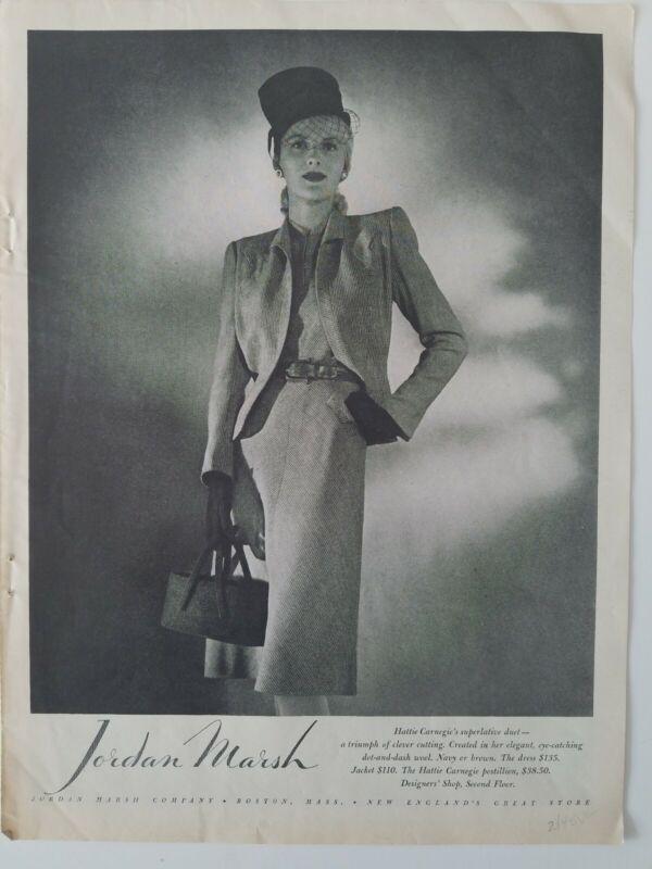 1945 Jordan Marsh Hattie Carnegie women