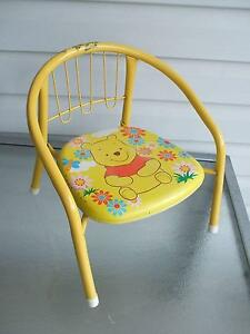 "METAL CHAIR WITH ""POOH BEAR:"" Merrylands Parramatta Area Preview"