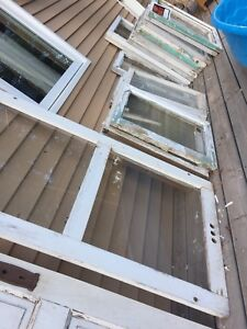 Old wooden windows/antique half door