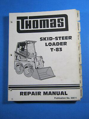 Thomas T-83 Skid Steer Loader Shop Service Repair Manual Oem Factory