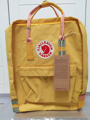 Fjallraven Kan ken Classic 16L Yellow Backpack School Waterproof Canvas Bag