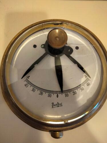 SESTREL Vintage Marine Clinometer / Inclinometer BRASS Yacht Maritime Nautical