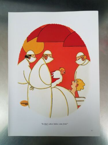 Vintage Beer Googles - Babies Come From Playboy ART From Coffee Table Book - $2.99