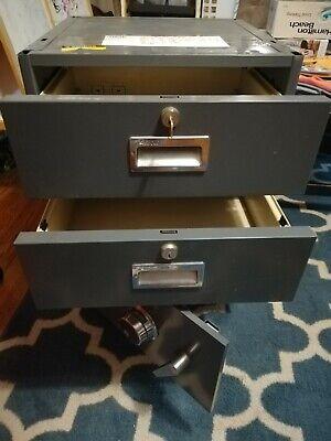 Diebold 2 Drawer Bank Teller File Cabinet Safe Wcombination