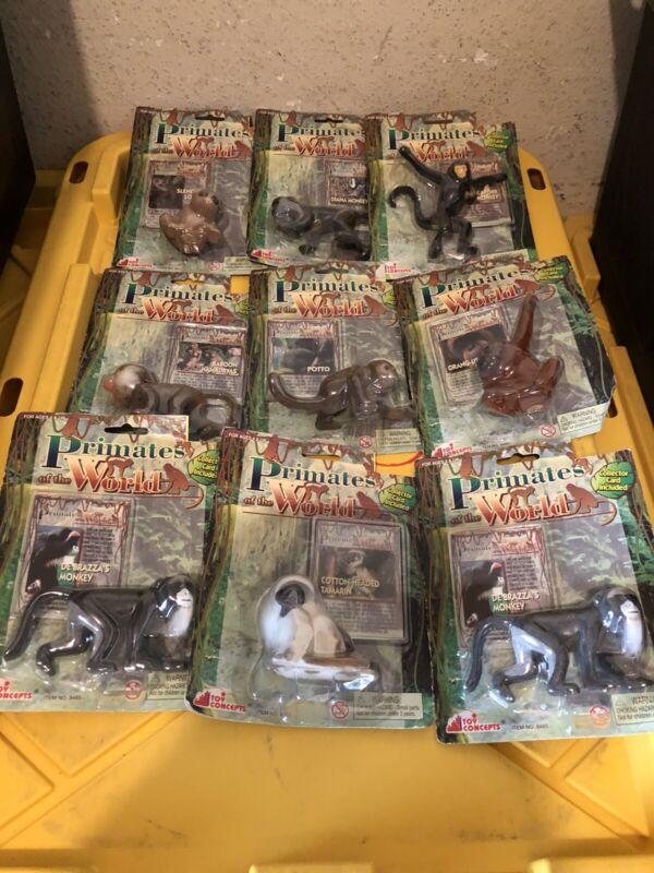 Primates of the World Lot Vintage Toy Figure Figurine Rare Animal 2001 Lot Of 9