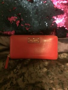 Kate spade red wallet authentic.