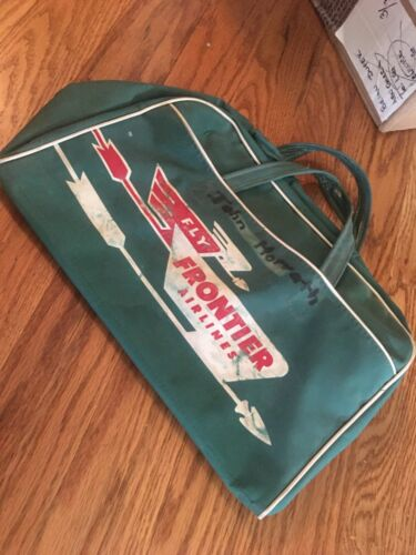 Frontier Airlines 1950s travel bag
