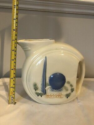 1939 NEW YORK WORLD'S FAIR PORCELIER MEDIUM PITCHER