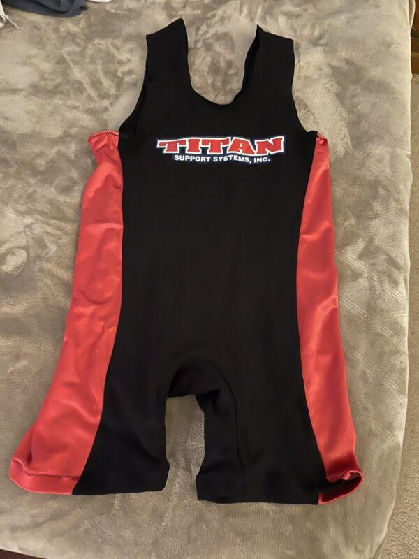 Titan Triumph Powerlifting Singlet - IPF Legal Black/Red Raw Powerlifting