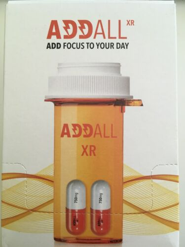 Addall XR 750mg Brain Booster Capsules For Focus And Memory 2-Pack (B580)