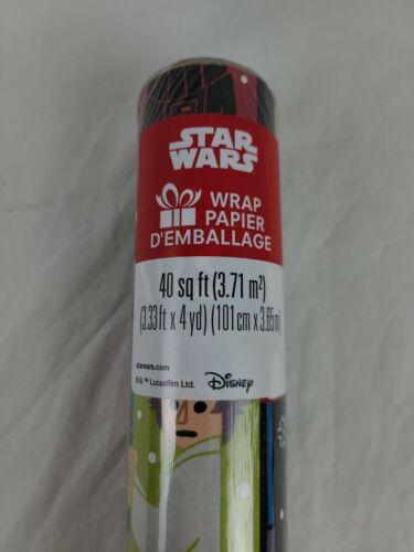 Star Wars Christmas Wrapping Paper 40 sq ft Chewbacca Luke V