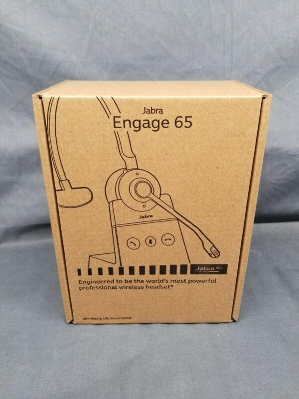 Jabra ENGAGE 65 Over the Ear Wireless Headset 9553-553-125 Black NEW IN BOX!