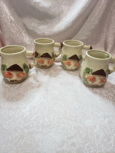 Vintage Teacups Mushroom Pattern Japan   ...BDL