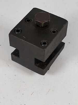 Vintage Lathe Turret Style Double Tool Holder T Slot Mount