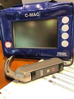 Storz C Mac Video Laryngoscope 8401zx Monitor Imager8401ax Blade Case