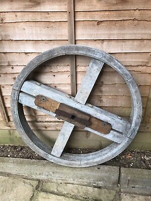 Antique Wooden Wheel..French Cart Wheel..Agricultural..Vintage