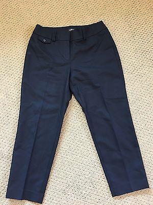 Ann Taylor Loft NWT Black Cropped Pants Size 8