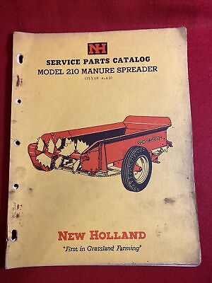 1963 New Holland Service Parts Catalog Model 210 Manure Spreader
