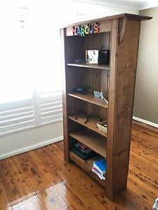 Solid timber rustic bookshelf Hurstville Hurstville Area Preview