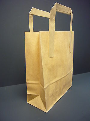 BROWN Kraft Paper Carrier Bags 7