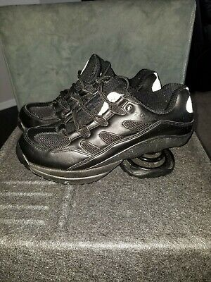 Z-Coil Black Shoes Sneaker Women Sz 8 Spring Pain Relief Lace Up Freedom Comfort