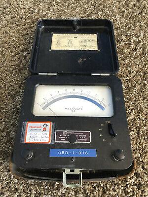 Weston Instrument Model 622 Dc Volt Meter Milli Voltmeter Tested