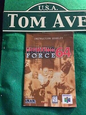 Fighting Force 64 (Nintendo 64, 1999) N64 Authentic MANUAL ONLY