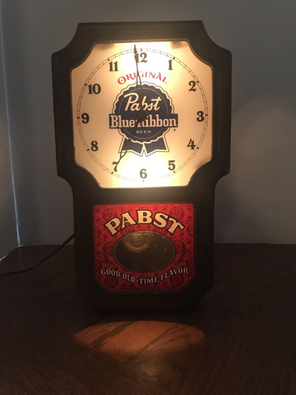 Original Pabst Blue Ribbon Beer Vintage Wall Clock Pabst Good Old-Time Flavor