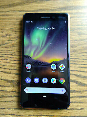 Nokia 6 (2018) TA-1045 - 32GB - Copper Black (Unlocked) Smartphone (Single SIM)