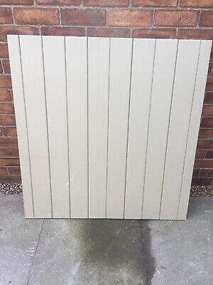 Timber Ledge And Braced Garden Gate Primed Wood 1030mm Wide X 1070mm High