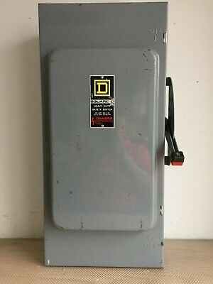 Square D Hu364 200 Amp 600 Volt 3 Phase Nfused Indoor Disconnect..d-152
